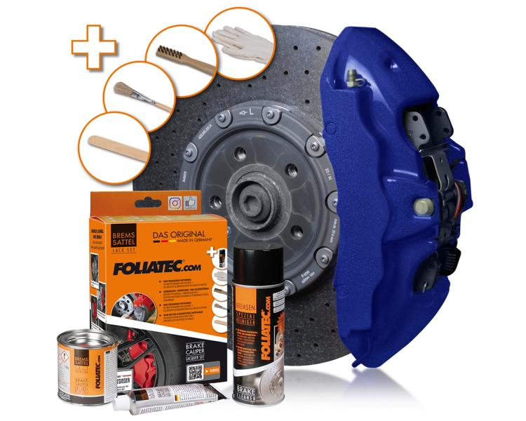 FOLIATEC 2196 brake caliper paint set performance blue metallic 01 FOLIATEC brake caliper paint in miami beach blue / performance blue metallic