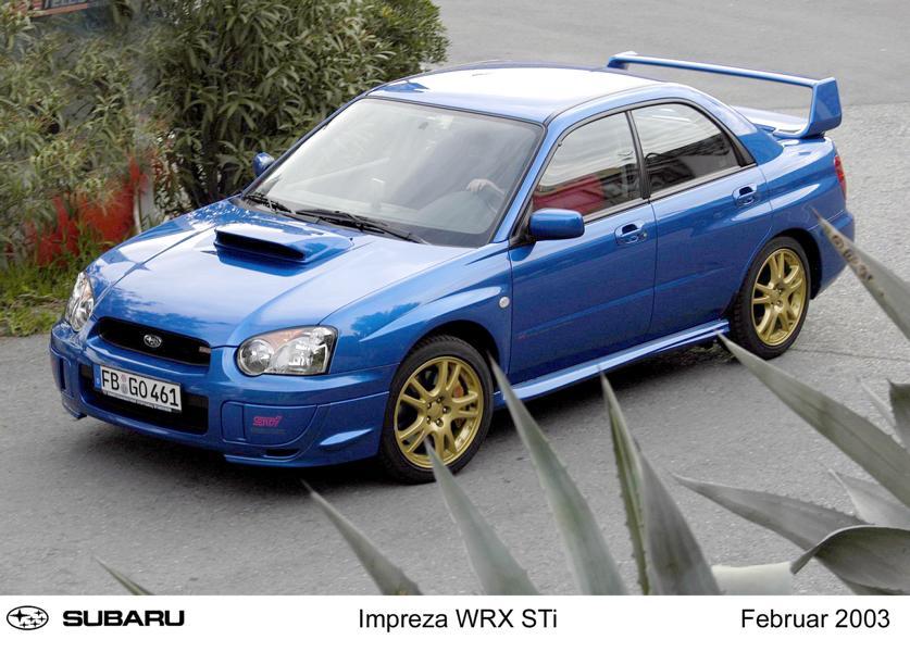 Impreza 2.0 WRX STI Modelljahr 2003 Subaru WRX STI: Mythos aus der blau goldenen Rallye Ära!