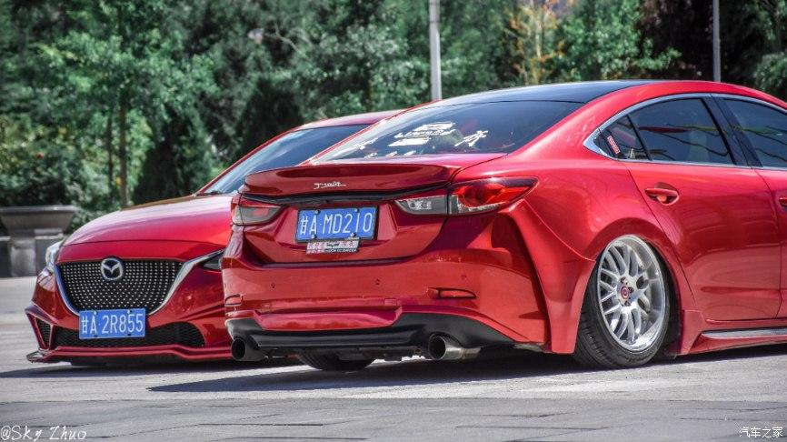 Mazda 6 Airrde Tuning Slammed 16 Red Mazda Tuning pair with proper lowering!