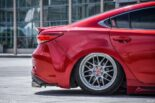 Mazda 6 Airrde Tuning Slammed 4 155x103 Red Mazda Tuning pair with proper lowering!
