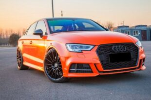 Orange-colored Audi S3 sedan HRE rims Tuning Hedar 310x205 Orange-colored Audi S3 sedan on 19 inch HRE aluminum!
