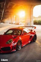 Roter Porsche Cayman 987 Widebody Kit Tuning Turbofans 12 135x203 Roter Porsche Cayman (987) mit extremem Widebody Kit!
