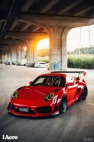 Roter Porsche Cayman 987 Widebody Kit Tuning Turbofans 22 135x203 Roter Porsche Cayman (987) mit extremem Widebody Kit!