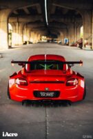 Roter Porsche Cayman 987 Widebody Kit Tuning Turbofans 35 135x203 Roter Porsche Cayman (987) mit extremem Widebody Kit!