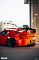 Roter Porsche Cayman 987 Widebody Kit Tuning Turbofans 42 135x203 Roter Porsche Cayman (987) mit extremem Widebody Kit!