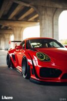 Roter Porsche Cayman 987 Widebody Kit Tuning Turbofans 46 135x203 Roter Porsche Cayman (987) mit extremem Widebody Kit!