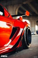Roter Porsche Cayman 987 Widebody Kit Tuning Turbofans 8 135x203 Roter Porsche Cayman (987) mit extremem Widebody Kit!