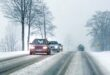 Snow Winter driving Auto Strasse 110x75 Tip: This is how car drivers get through the winter safely!