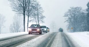 Snow Winter driving Auto Strasse 310x165 Tip: This is how car drivers get through the winter safely!