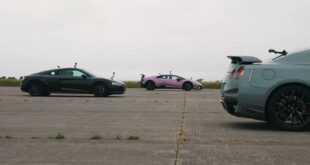 Tuning Nissan GT R vs. Audi R8 and Lamborghini 2 310x165 Video: Tuning Nissan GT R vs. Audi R8 and Lamborghini!