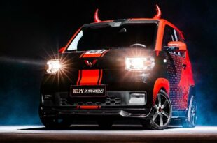 Wuling Hongguang Mini EV Sonderedition Tuning Head 1 310x205 Coole Ochsenkarre   Wuling Hongguang Mini EV Sonderedition!