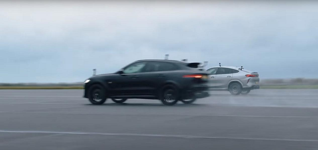BMW X6 M vs. Lister Stealth Video: Drag race BMW X6 M vs. Lister Stealth +600 PS SUV