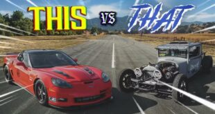 Dodge Hot Rod Pickup vs. 1.200 PS Corvette Z06 310x165 Video: 1927 Dodge Hot Rod Pickup vs. 1.200 PS Corvette Z06!