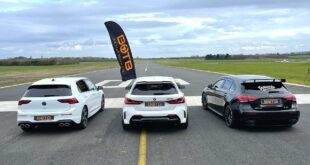 VW Golf R vs. BMW M135i vs. Mercedes A35 AMG 310x165 Video: Mercedes AMG A45 vs. 2022 VW Golf R (MK8)