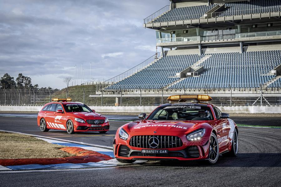2021 Mercedes AMG Safety Car Medical Car Formel 1 1 2021 Mercedes AMG Safety Car und Medical Car der Formel 1