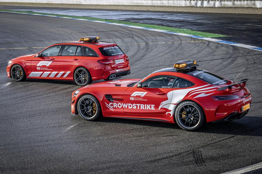 2021 Mercedes AMG Safety Car Medical Car Formel 1 4 2021 Mercedes AMG Safety Car und Medical Car der Formel 1