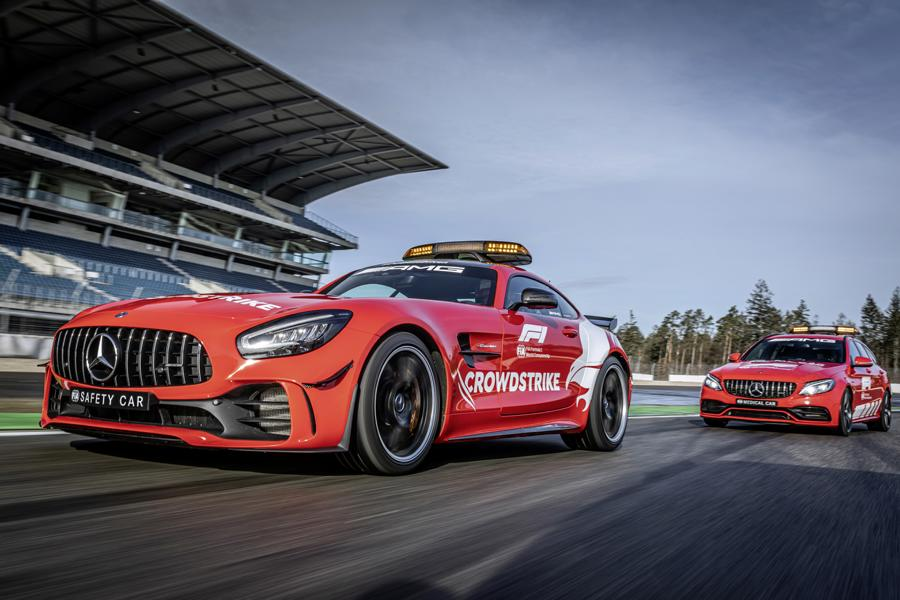 2021 Mercedes AMG Safety Car Medical Car Formel 1 6 2021 Mercedes AMG Safety Car und Medical Car der Formel 1