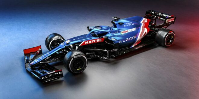Alpine F1 Team presents new A521 racing car (2021)