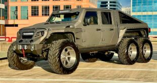 Apocalypse Hellfire Jeep Pickup 6x6 Widebody Tuning Header 310x165 Apocalypse Hellfire Jeep Pickup 6x6 mit 750 PS V8!