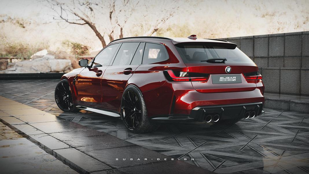 BMW M3 Touring G81 Competition Widebody Tuning 4 Vorschau: BMW M3 Touring & M4 Shooting Brake 2022!