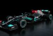 Racing car from the Mercedes-AMG Petronas F1 Team: W12 (2021)