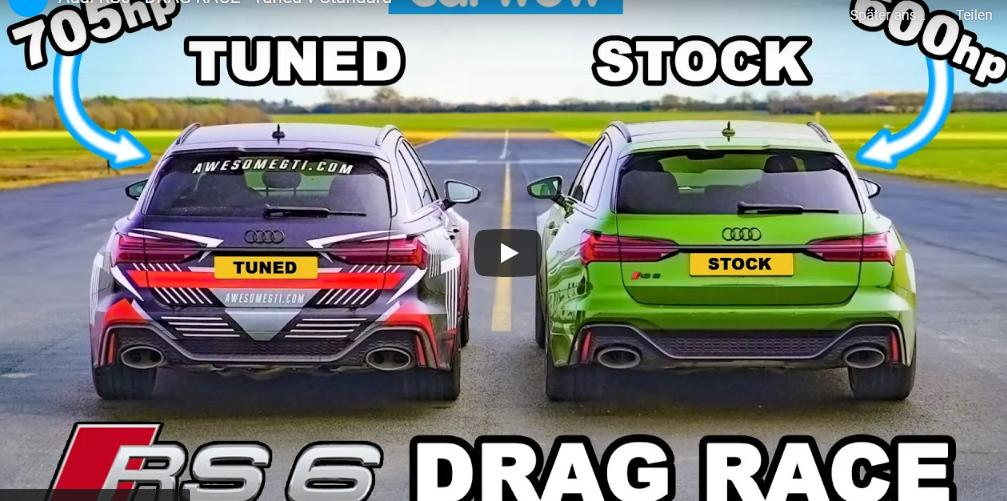 Tuning Audi RS6 Avant vs. Serie Video: 700 PS & 1.000 NM Tuning Audi RS6 Avant vs. Serie!