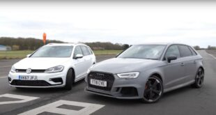 VW Golf R Audi RS3 Sportback 310x165 Video: Mercedes AMG A45 vs. 2022 VW Golf R (MK8)