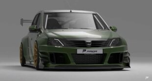 Prior Design Dacia Logan mega Widebody Kit 2 310x165 Video: Prior Design Dacia Logan mit mega Widebody Kit!