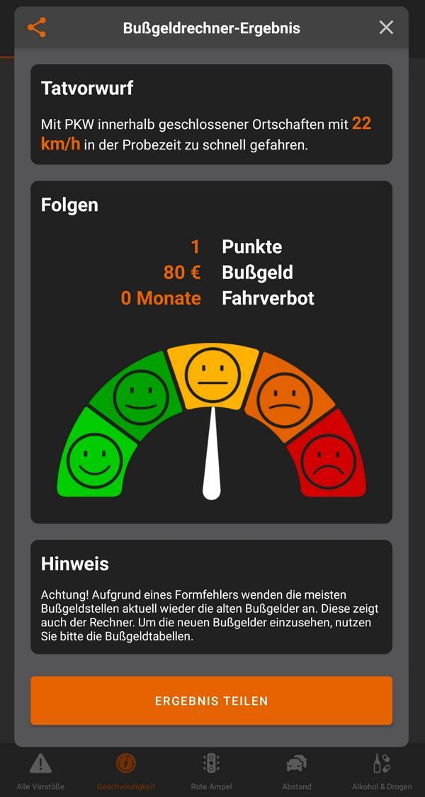 Bussgeldrechner App 2021 Strafe berechnen Geschwindigkeit 2 Bußgeldrechner App 2021: Bußgelder kostenfrei berechnen!