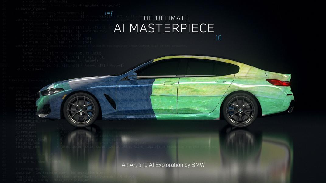 """The Ultimate AI Masterpiece BMW 8er 21 """"The Ultimate AI Masterpiece"""": BMW 8er als Kunstwerk!"""