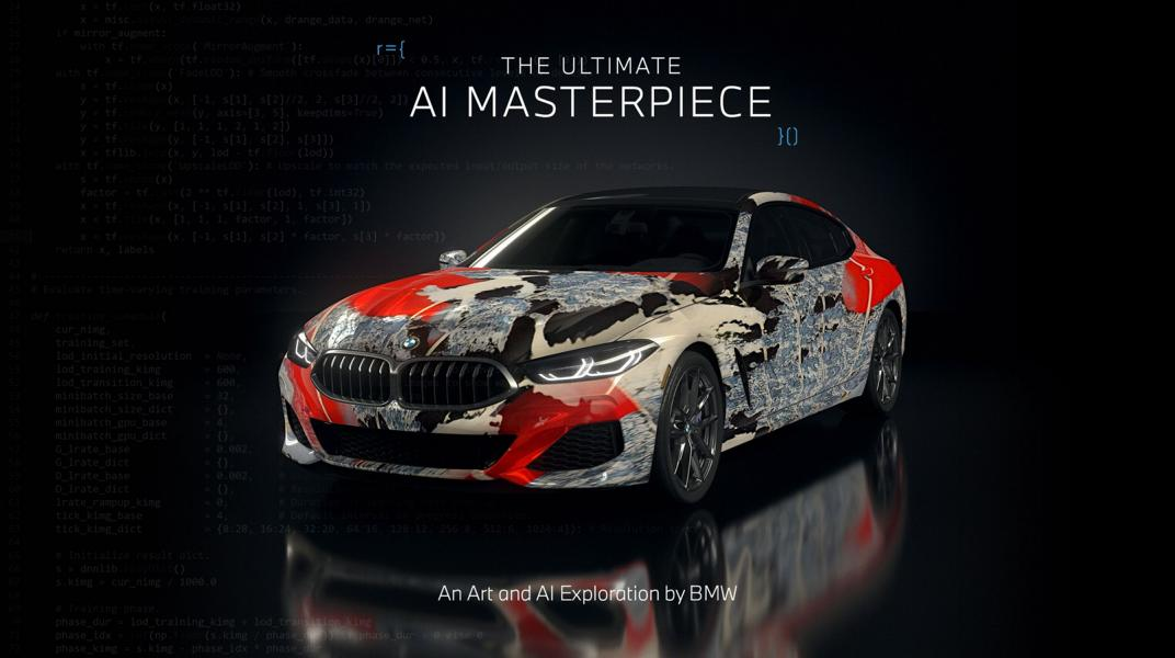 """The Ultimate AI Masterpiece BMW 8er 27 """"The Ultimate AI Masterpiece"""": BMW 8er als Kunstwerk!"""