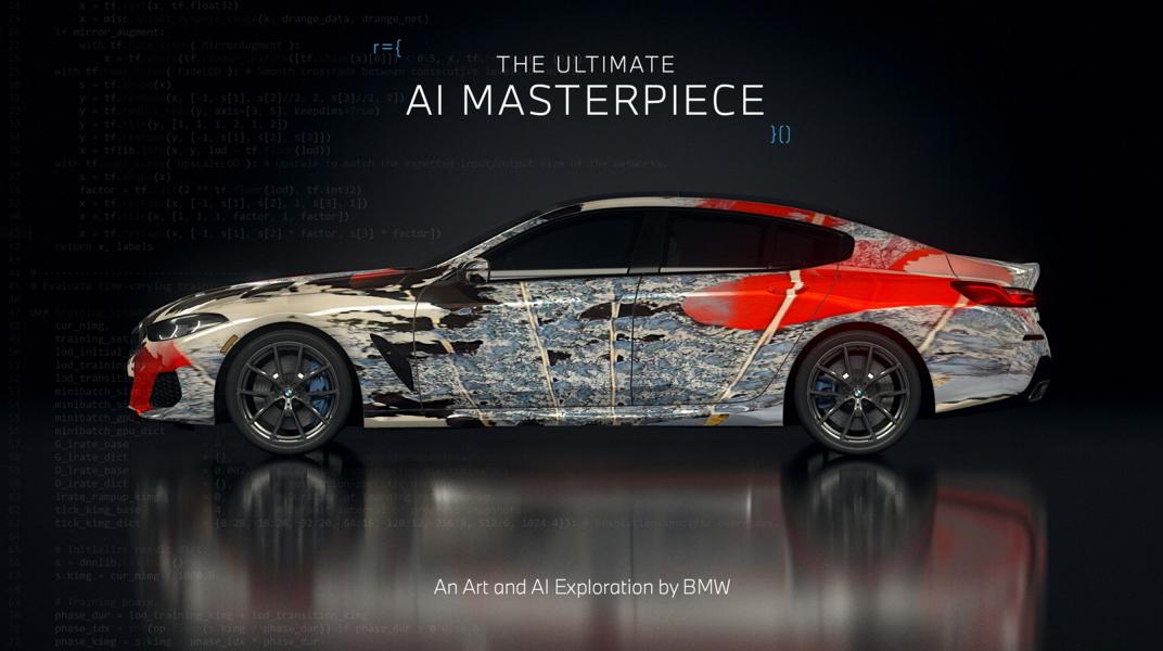 """The Ultimate AI Masterpiece BMW 8er 28 """"The Ultimate AI Masterpiece"""": BMW 8er als Kunstwerk!"""
