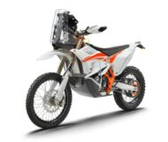KTM 450 RALLY FACTORY REPLICA left front MY22 190x160 Streng limitiert: KTM 450 Rally Factory Replica (2022)!