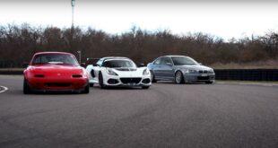Lotus Exige 430 Cup Mazda MX 5 BMW M3 CSL 12 310x165 Video: Vergleich   Lotus Exige 430 Cup, Mazda MX 5, BMW M3 CSL!