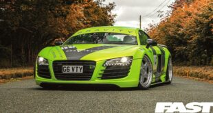 Audi R8 yellow-green foiling 20 inch tuning Airride 14 310x165 Audi A6 Avant (C8) with Airride and Work CVD rims!