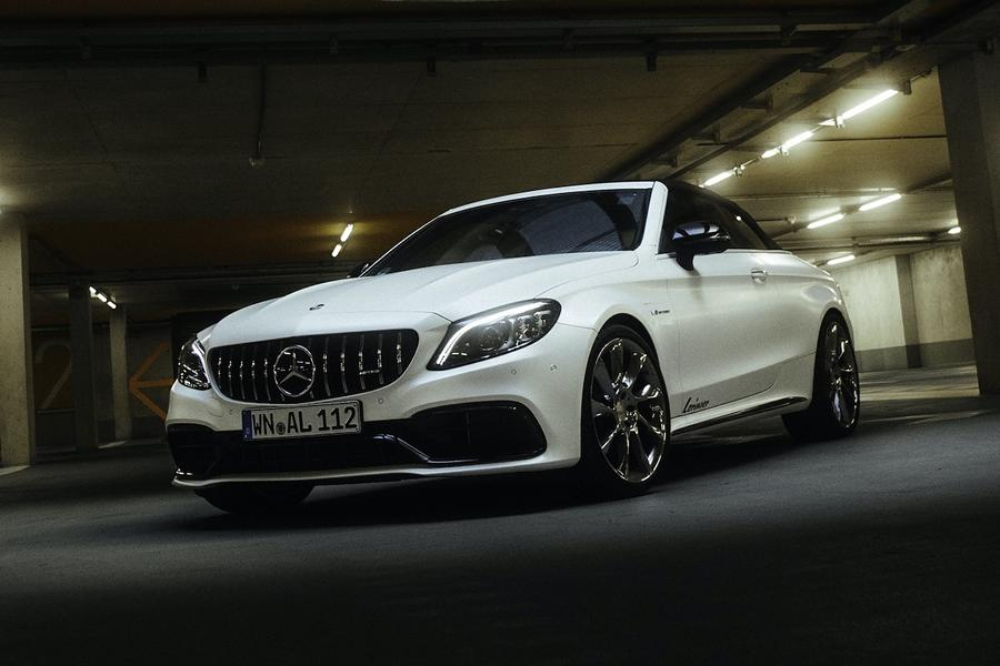 Mercedes C63 AMG Lorinser Chiptuning RS8 RS9 Felgen 1 Dezent: Mercedes C63 AMG mit 598 PS & Lorinser Alus!