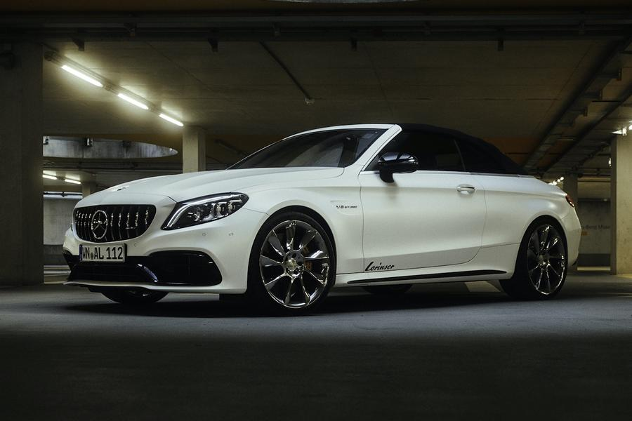 Mercedes C63 AMG Lorinser Chiptuning RS8 RS9 Felgen 3 Dezent: Mercedes C63 AMG mit 598 PS & Lorinser Alus!