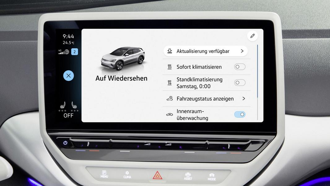 Over the Air Updates Volkswagen ID 4 Over the Air Updates für die Volkswagen ID. Familie!