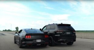 Roush Ford Mustang Drag Race Jeep Trackhawk 310x165 Video: 750 HP Roush Ford Mustang vs. 707HP Jeep Trackhawk!