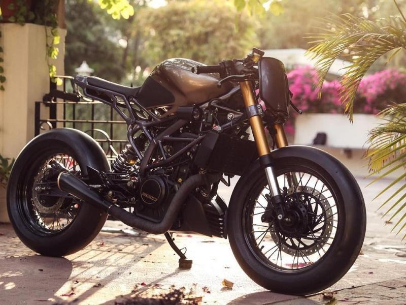 KTM 390 Duke Rajputana customs Tuning Racer 1 Custom Rennmaschine Kush auf Basis KTM 390 Duke!