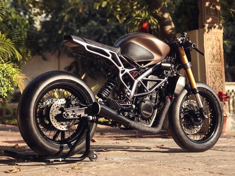 KTM 390 Duke Rajputana customs Tuning Racer 5 Custom Rennmaschine Kush auf Basis KTM 390 Duke!