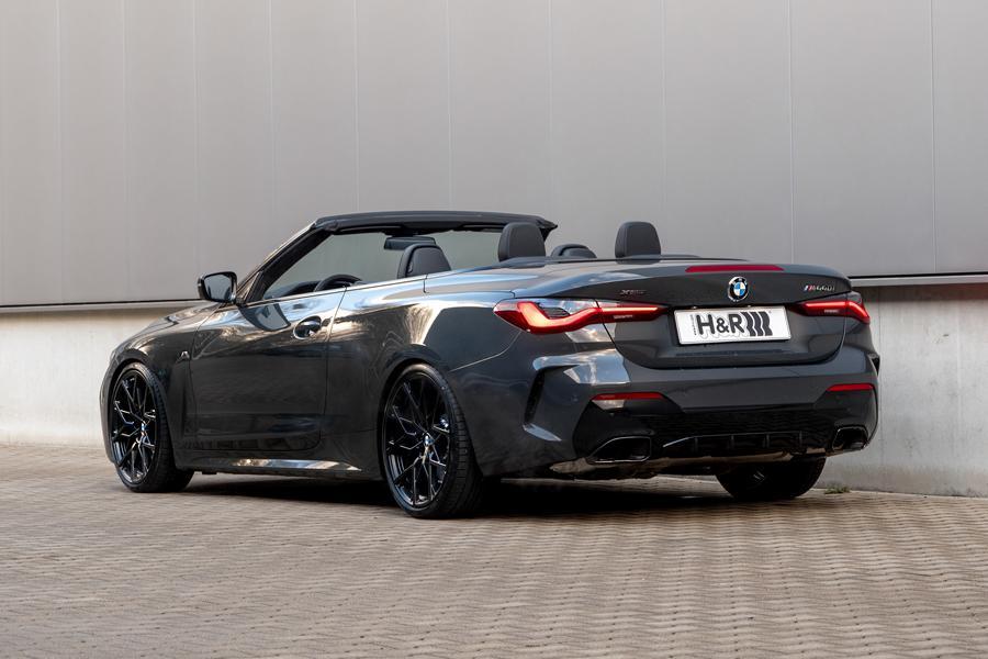 BMW M440i Cabrio Sportfedern Heck Fahrspaß Update: H&R Sportfedern für das 4er BMW Cabriolet