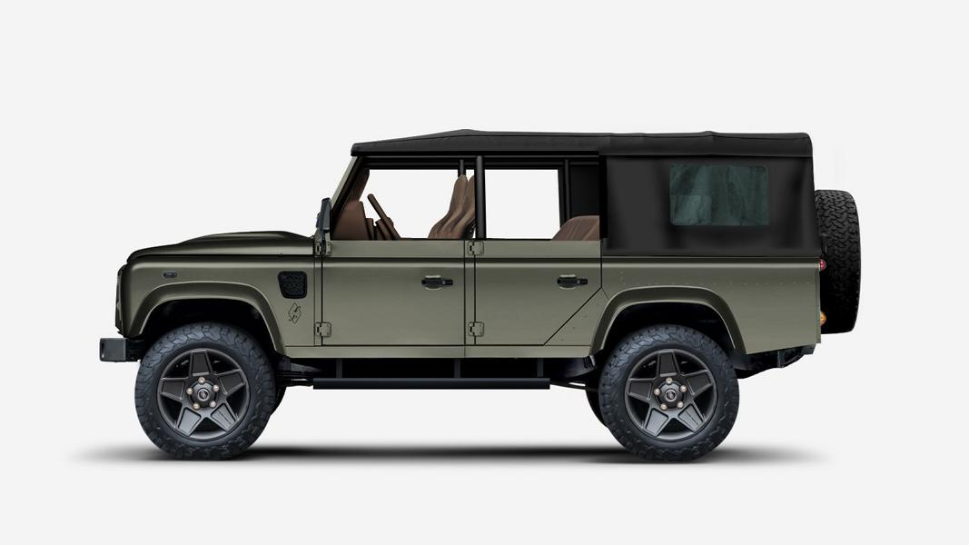 Land Rover Defender Chevy V8 Jeep Function Black Bridge Motors 3 Land Rover Defender mit Chevy V8 und Jeep Rahmen!